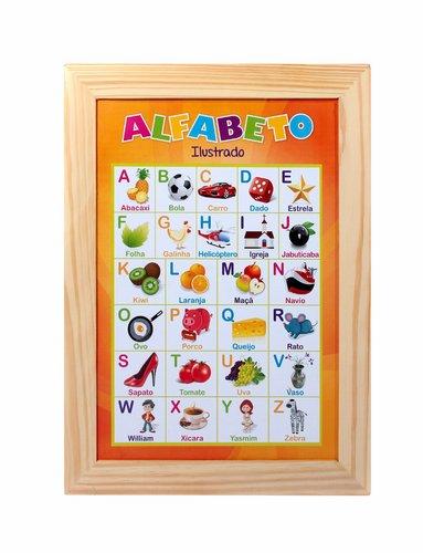 Painéis Sala de Aula  Alfabeto Ilustrado Português